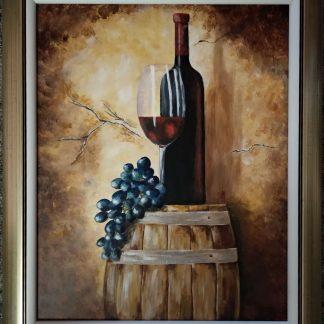 Hrych Anna Othelló kincse című festménye kerettel