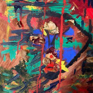 Csengey Enikő Dionüszosz című festménye